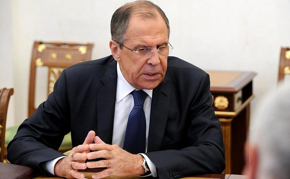 Foreign Minister Sergey Lavrov. Credit: kremlin.ru
